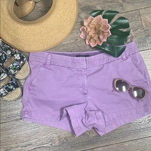 J. CREW 3 chino shorts Bright Lilac purple size 12